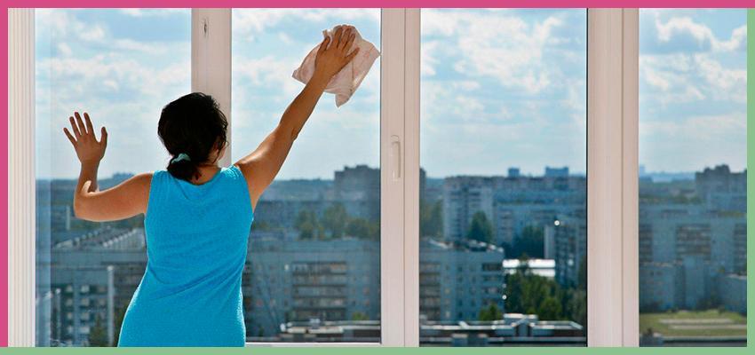 Помыть застекленный балкон